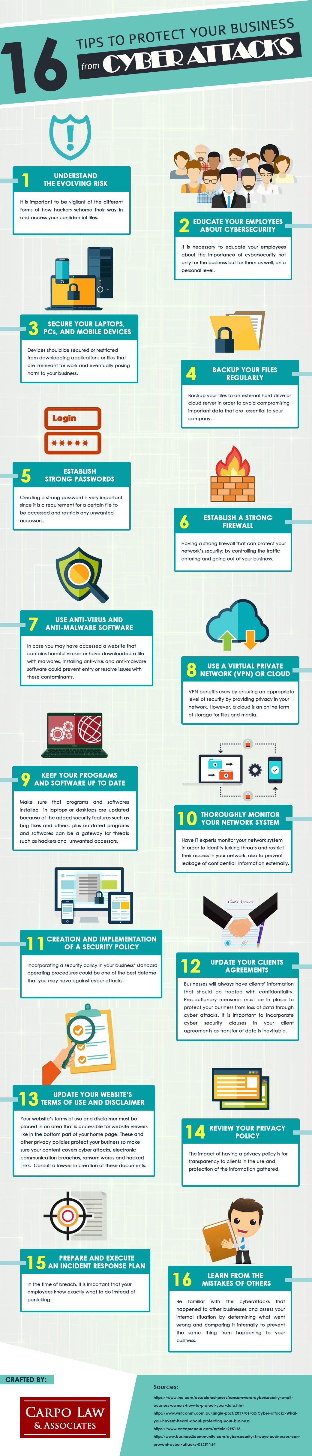16 Tips to Protect your Business from Cyber Attacks