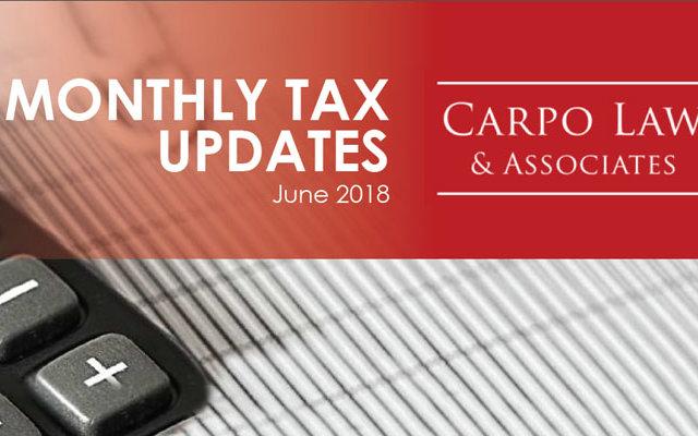Tax Update June 2018