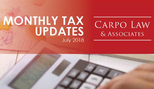 Tax Update July 2018