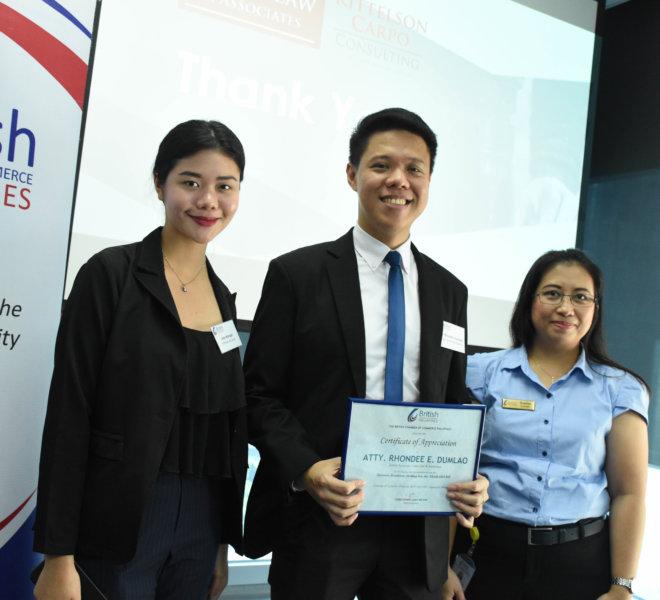 BCCP TRABAHO Bill - Atty. Rhondee Dumlao with Yvette Lucas of BCCP