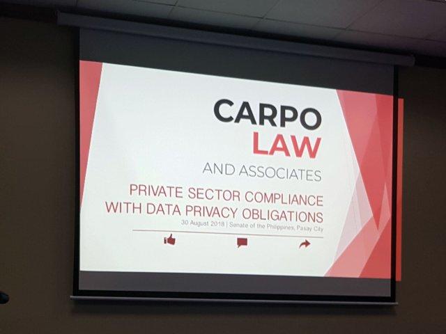 SENATE DATA PRIVACY FORUM 2 - Atty. Diana Bello-Castillo