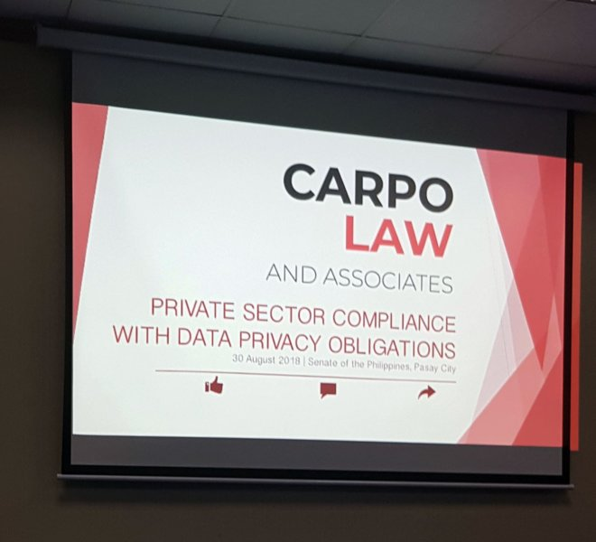 SENATE DATA PRIVACY FORUM 2 - Atty. Diana Bello-Castillo