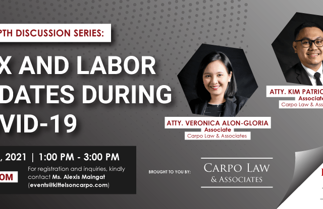 Tax and Labor Updates during COVID-19